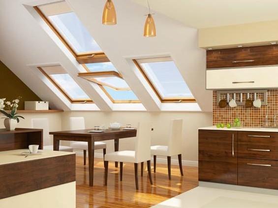 okna dachowe w kuchni Velux