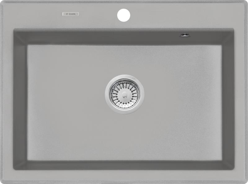 jednokomorowy zlewozmywak granitowy Deante Eridan - szary metalik