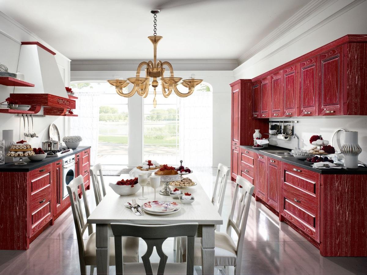 klasyczna kuchnia Gold Elite Rosso Oro - RAD-POL
