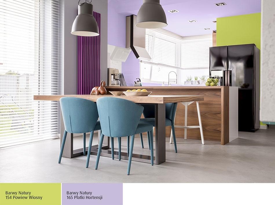 Dwa kolory ścian w kuchni
