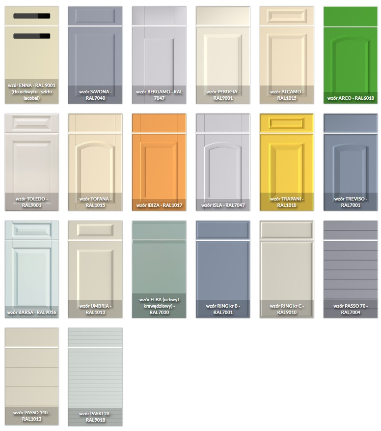 lakierowane fornty WIECH - kolory