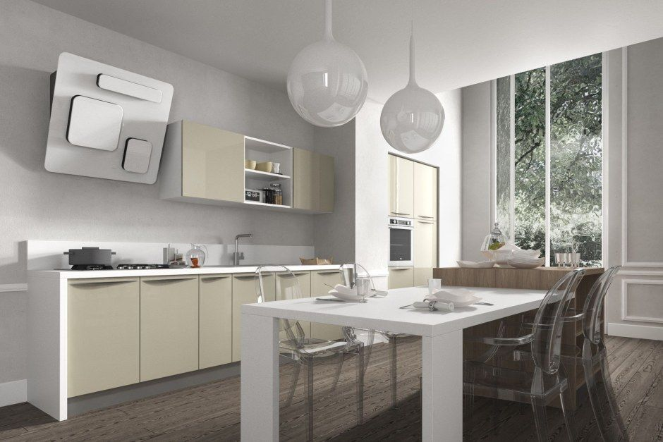 Kolor w kuchni  trendy kuchenne  Kuchenny com pl -> Kuchnia Pomaranczowo Kremowa