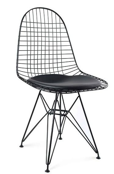 Krzesło do kuchni i jadalni metalowe z poduszką MONDEX FRANCIS CZARNE