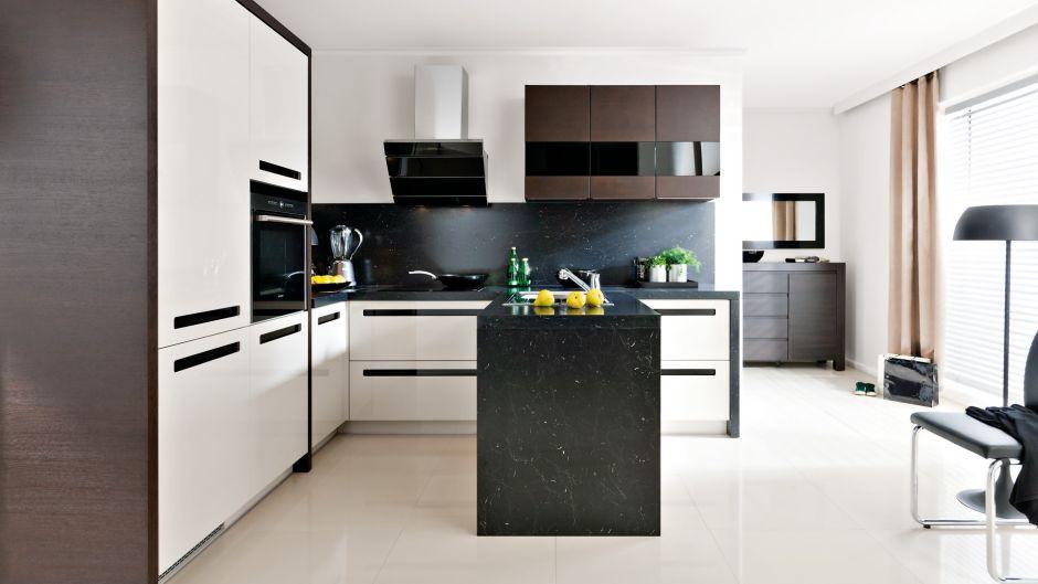 Układy kuchenne  kuchnia w kształcie L  projekty kuchni   -> Kuchnia Z Wyspa Okap