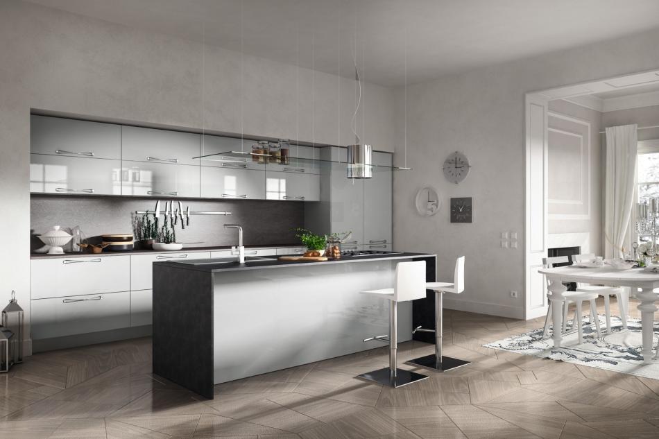 Czy otwarta na salon kuchnia to dobry pomysł aranżacyjny?  meble kuchenne  -> Kuchnia Pol Otwarta