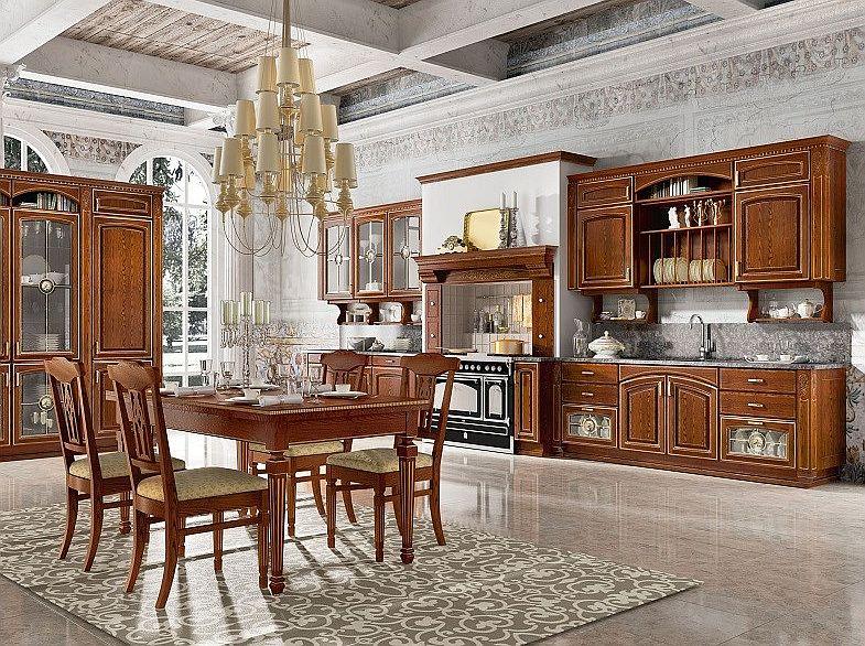 kuchnia w stylu klasycznym w kolorze jasnego drewna - RAD-POL