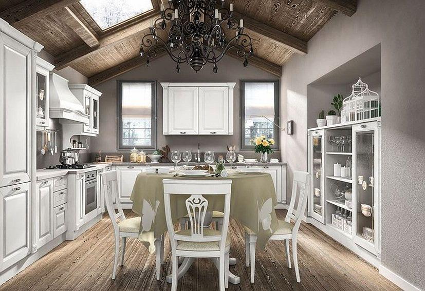 Romantyczna kuchnia w stylu prowansalskim