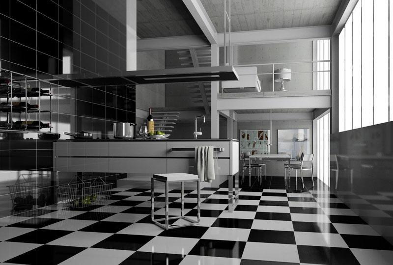 Projekt kuchni stworzony w module kuchennym programu InteriCAD