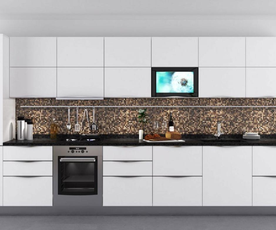 Telewizor w zabudowie w kuchni