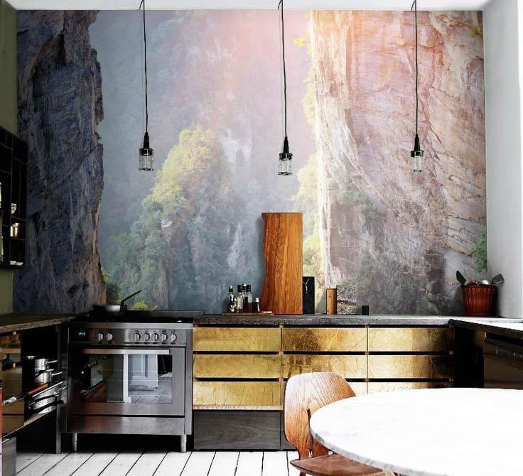 Fototapeta z widokiem - aranżacja kuchni