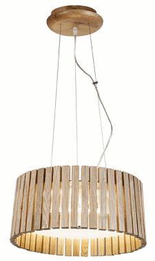 Eko lampy z drewna, bambusa i wikliny oświetlenie w kuchni