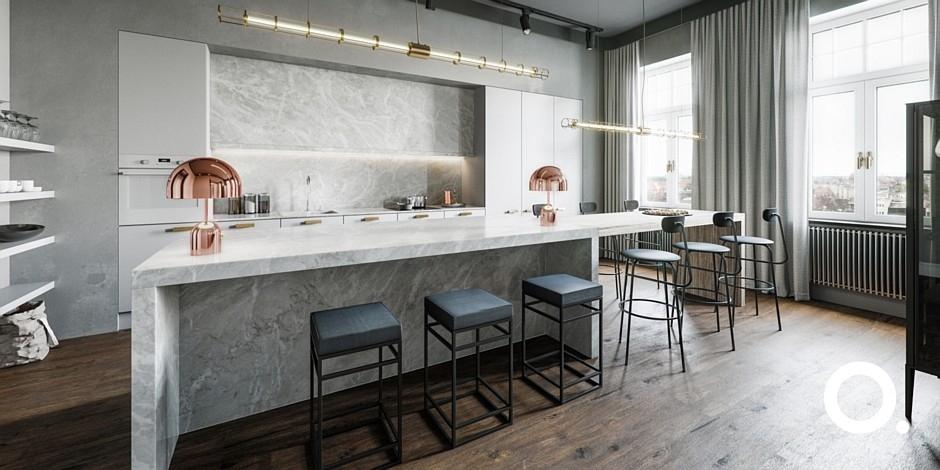 Luksusowa kuchnia - aranżacje, pomysły, projekty