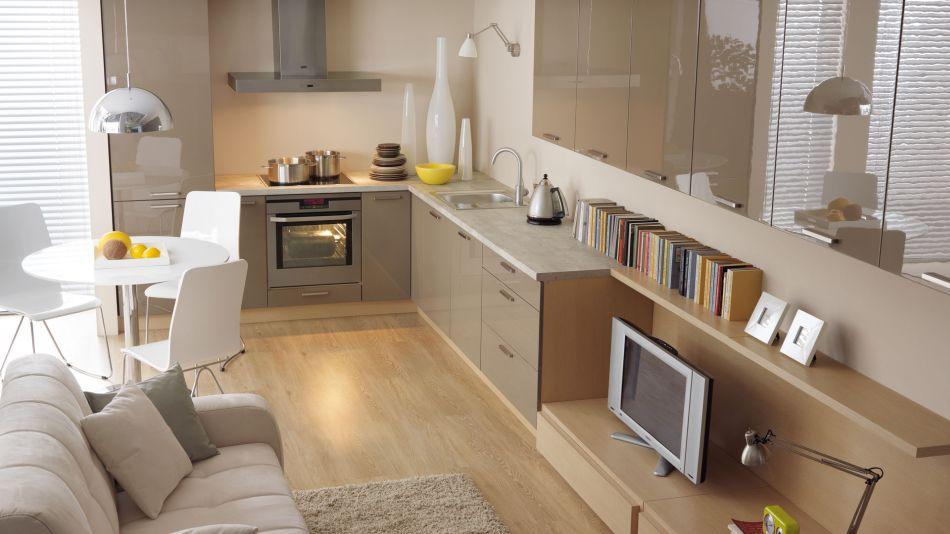 Mała kuchnia  pomysły na stół  porady  Kuchenny com pl -> Kuchnia Polysk Kawa Z Mlekiem