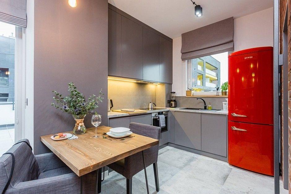 Mała kuchnia urządzona modnie i funkcjonalnie