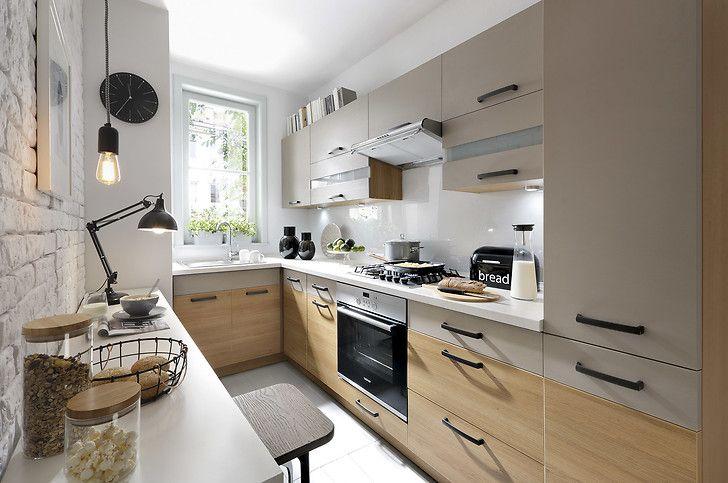 Mała kuchnia  pomysły na stół  porady  Kuchenny com pl -> Kuchnia Mala Wąska