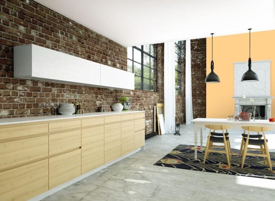 drewno i biel - popularny duet kolorystyczny na meblach kuchennych