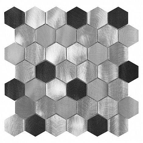 Dunin - mozaika Allumi Grey Hexagon Mix 48