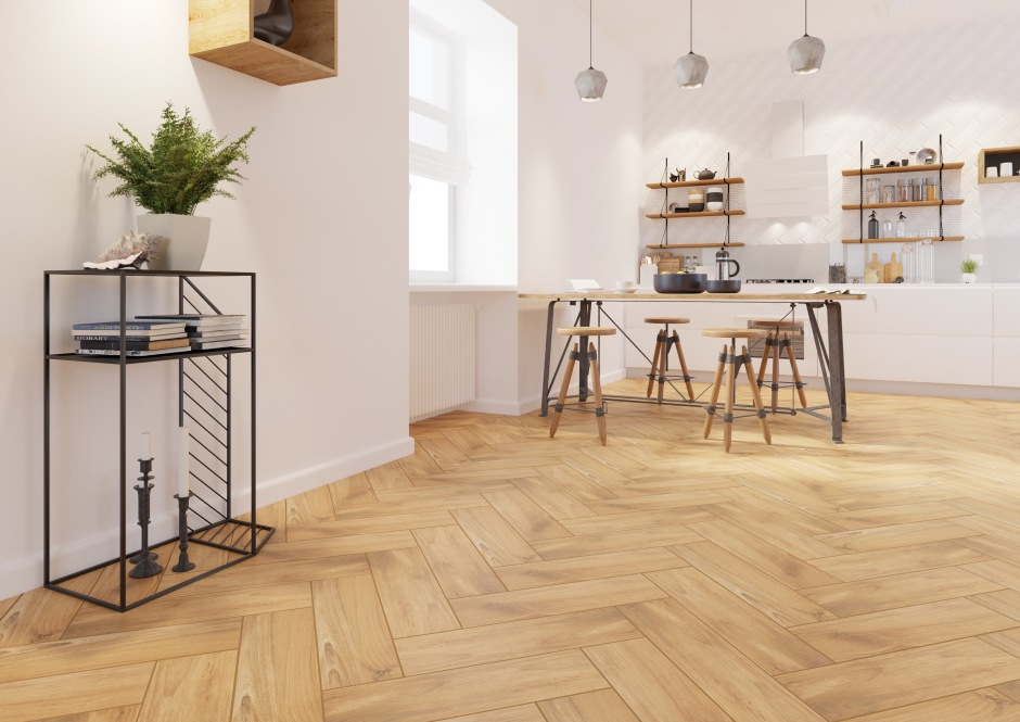 Metal i drewno w kuchni