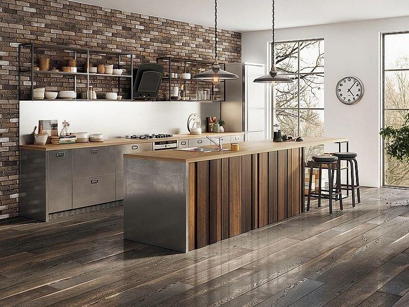 Metalowe elementy w kuchni w stylu industrialnym