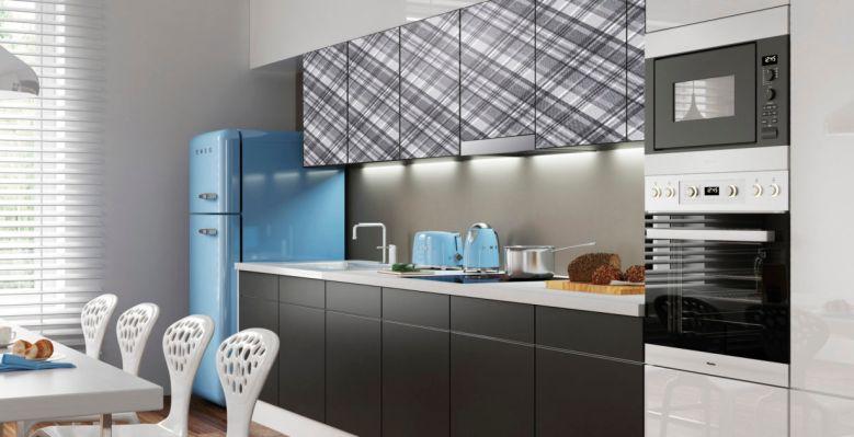 Stylowe wzory w kuchni - szkło lakierowane MODO z nadrukiem