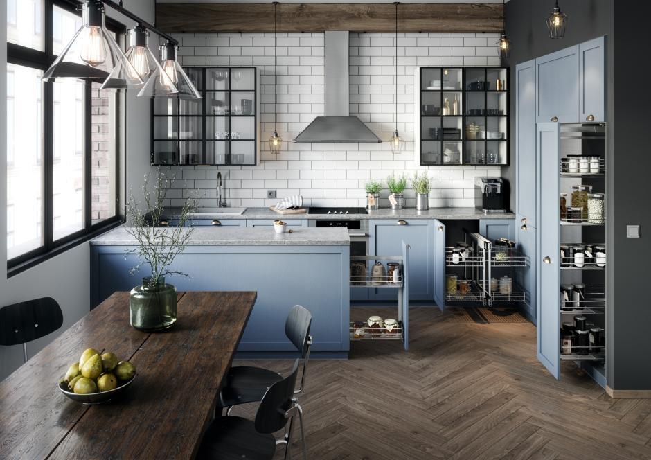 10 stylowych propozycji na meble kuchenne - z przeszkleniami