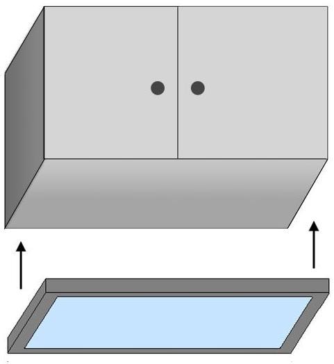 szklany wieniec kuchenny Led - model Down