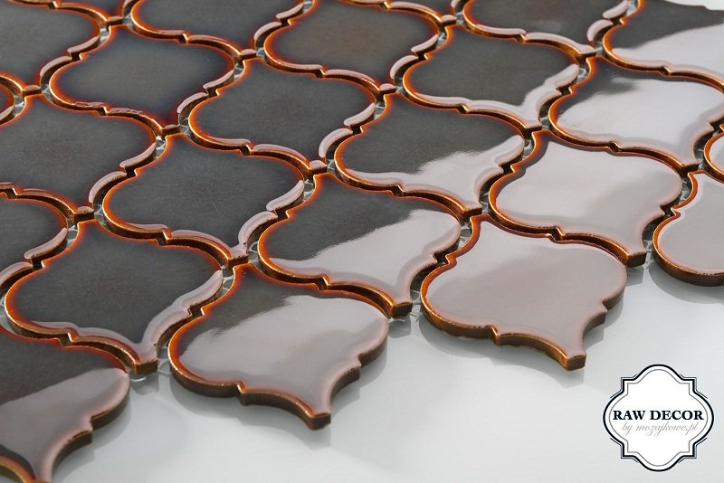 mozaika Arabeska - szara, połysk