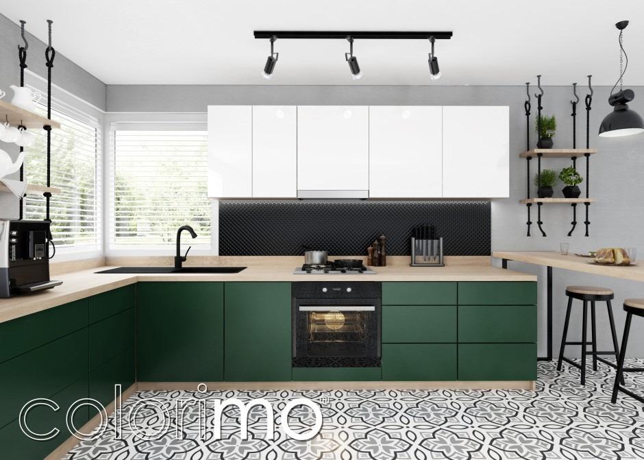 Nowoczesna kuchnia - modne podłogi i ściany