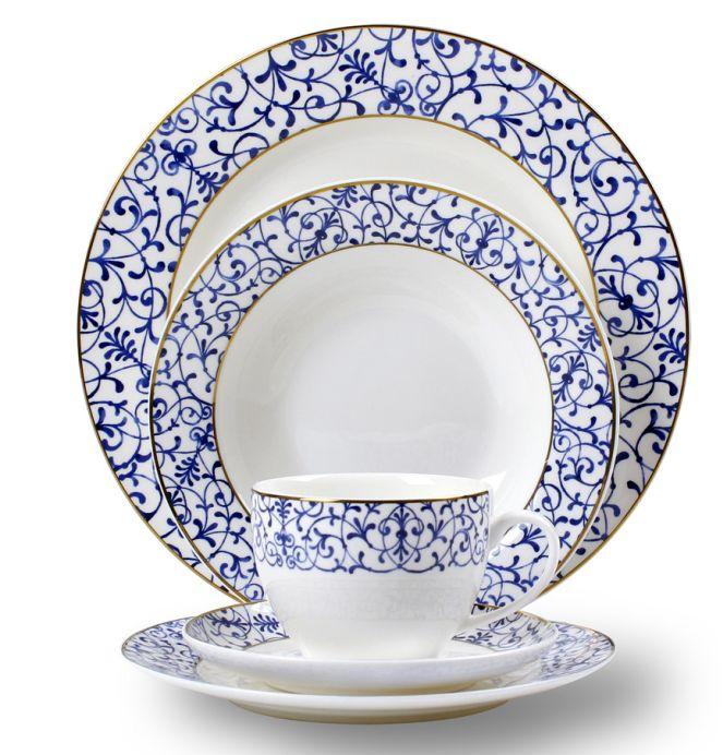 Masion - porcelana obiadowa z niebieskim wzorem