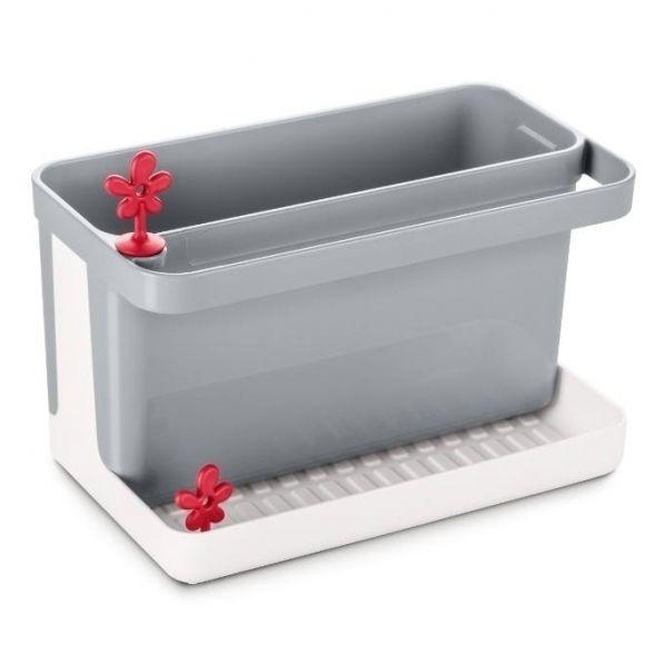 Pojemnik na akcesoria do zmywania plastikowy KOZIOL PARK IT SZARY