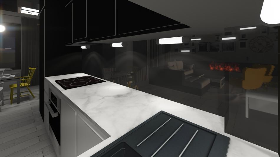 oświetlenie aneksu kuchennego - Aurora TS
