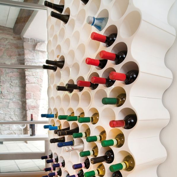 Stojak na wino plastikowy KOZIOL SET-UP BIAŁY duży