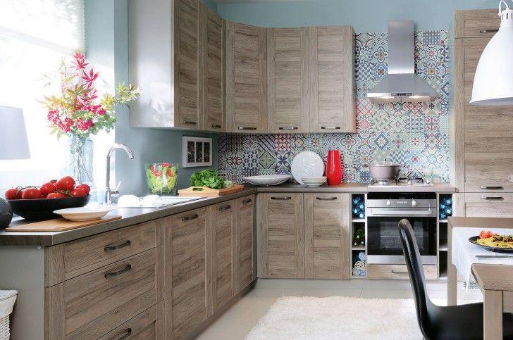 Płytki patchwork w kuchni  ściany i podłogi  Kuchenny com pl