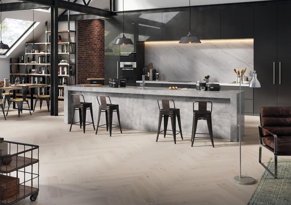 Jodła klasyczna - pomysłowa podłoga w kuchni