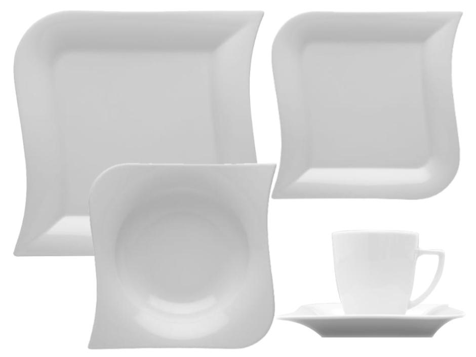 Nowoczesna porcealana kuchenna - talerze kwadratowe