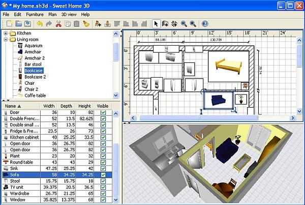 Program do projektowania kuchni Sweet Home 3D