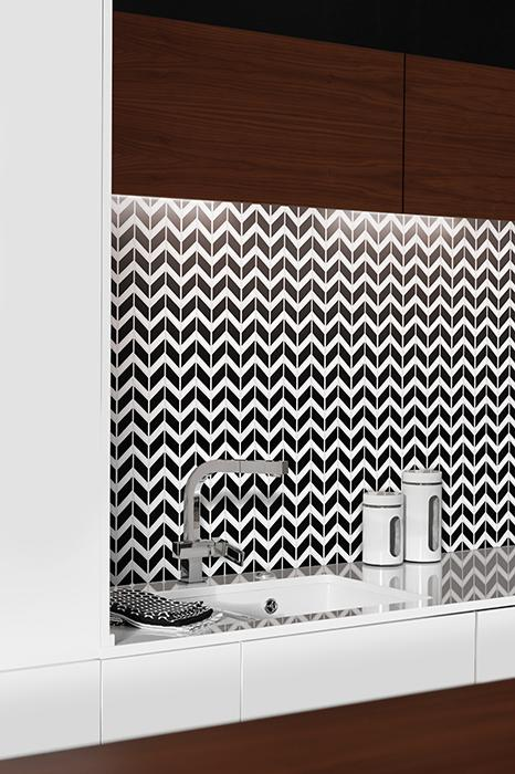 Dunin - Pure White Chevron