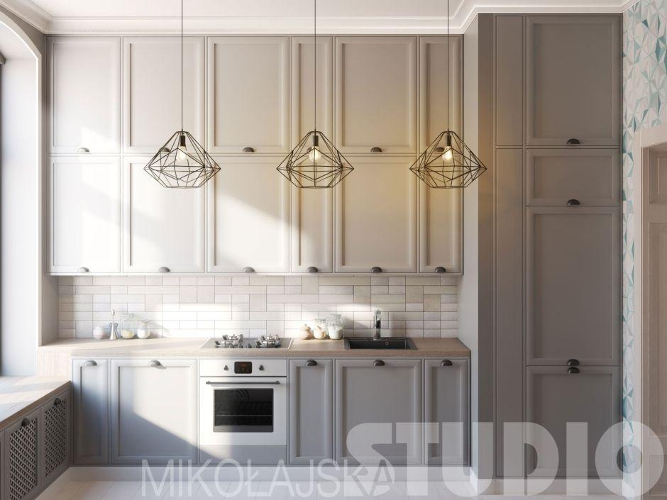 Lampy Diamond Black w kuchni w stylu loft