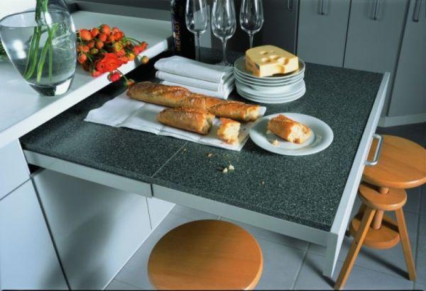 Rad-Pol - wyposażenie szafek kuchennych - składany stolik, blat
