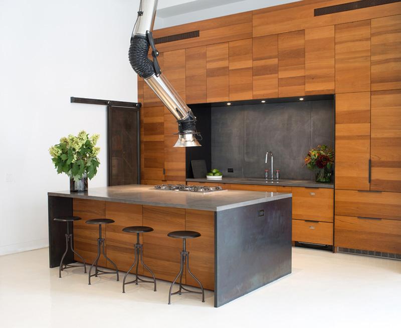 Wyciąg kominowy Mammut w aranżacji kuchni  design ze świata  Kuchenny com pl -> Kuchnia Z Okapem Kominowym