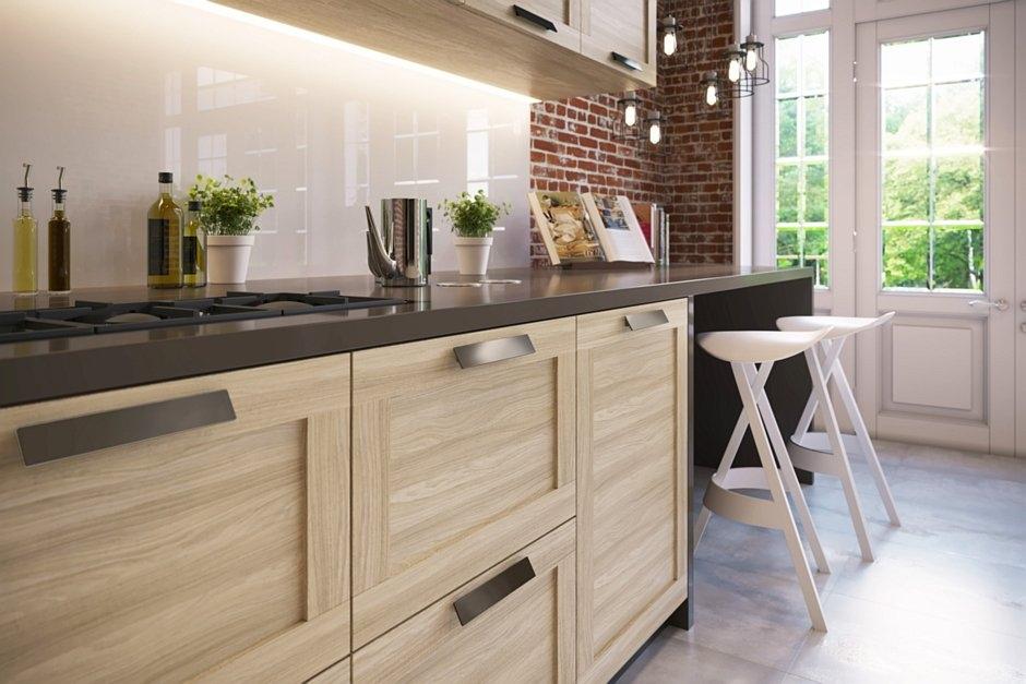 10 stylowych propozycji na meble kuchenne - z drewnem