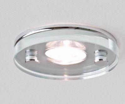 Nowoczesne oświetlenie kuchni - oprawy szklane płaskie do wbudowanie w sufit