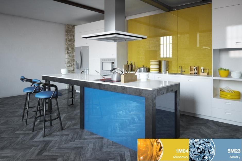 Szkło w kuchni - Colorimo Modry i Colorimo Miodowy