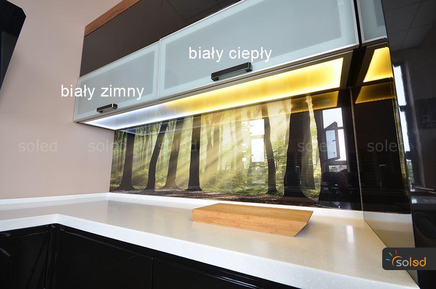 szklany wieniec kuchenny LED - SOLED