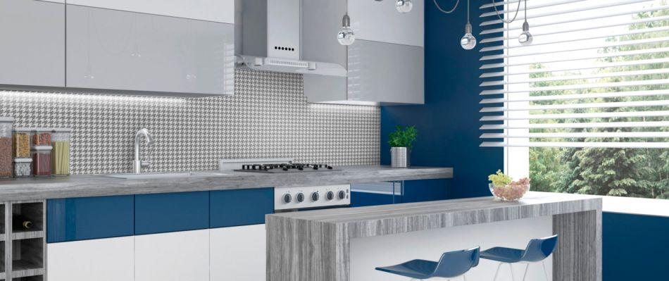 Najnowsze Stylowe wzory w kuchni - szkło lakierowane MODO z nadrukiem KU34