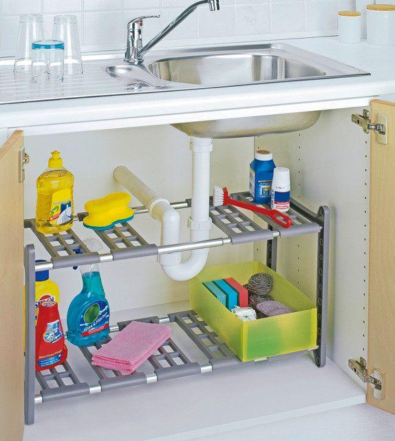 Jak utrzymać porządek w szafce pod zlewozmywakiem