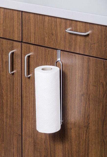 uchwyt na papierowy ręcznik kuchenny do zawieszenia na drzwiczkach szafki kuchennej