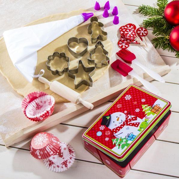 Zestaw do pieczenia i dekorowania pierniczków i ciasteczek LA CUCINA MERRY CHRISTMAS (40 el.)