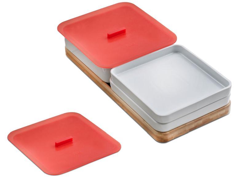 Praktyczny zestaw pojemników ceramicznych
