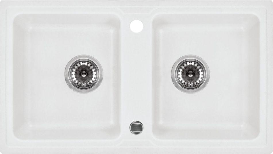 Zlewozmywaki kompozytowe z dwoma komorami